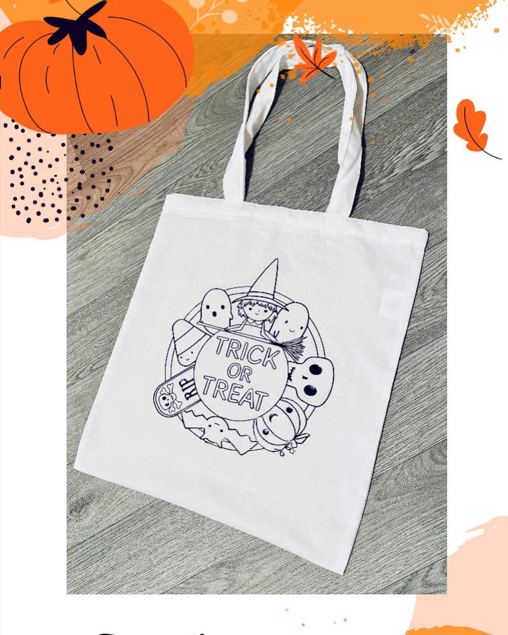 Halloween treat bag ideas for school coloring bags