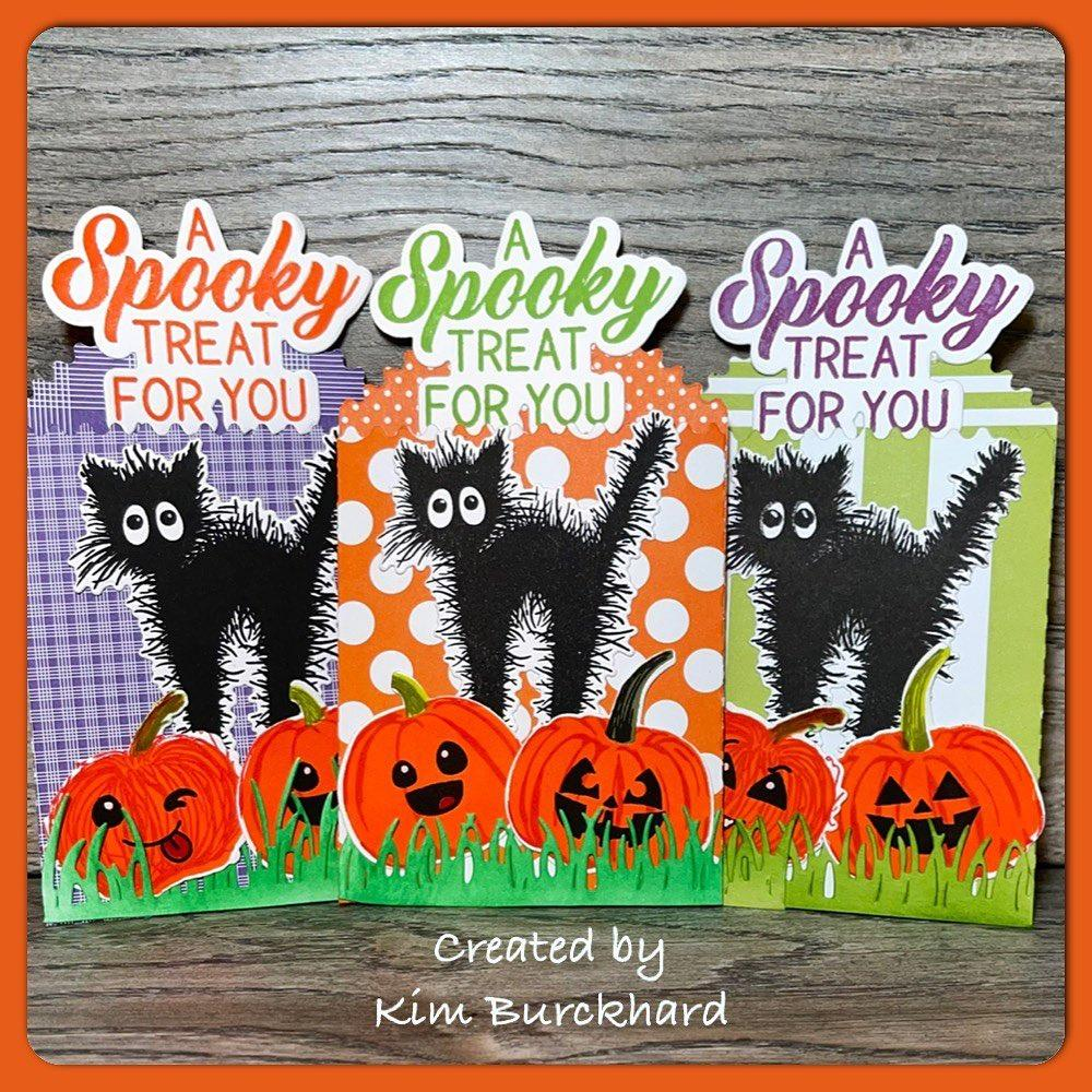 Halloween trick or treat bags that also work as postcards