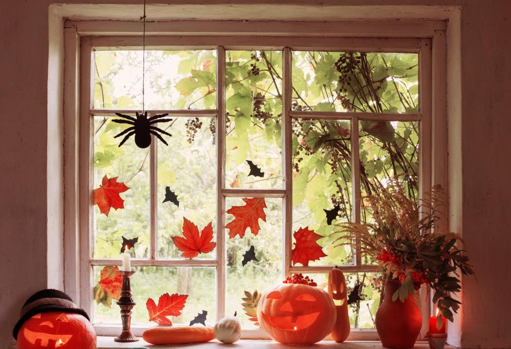 Halloween window decor