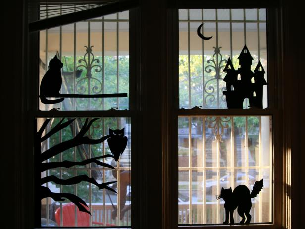 Halloween Window Silhouette DIY