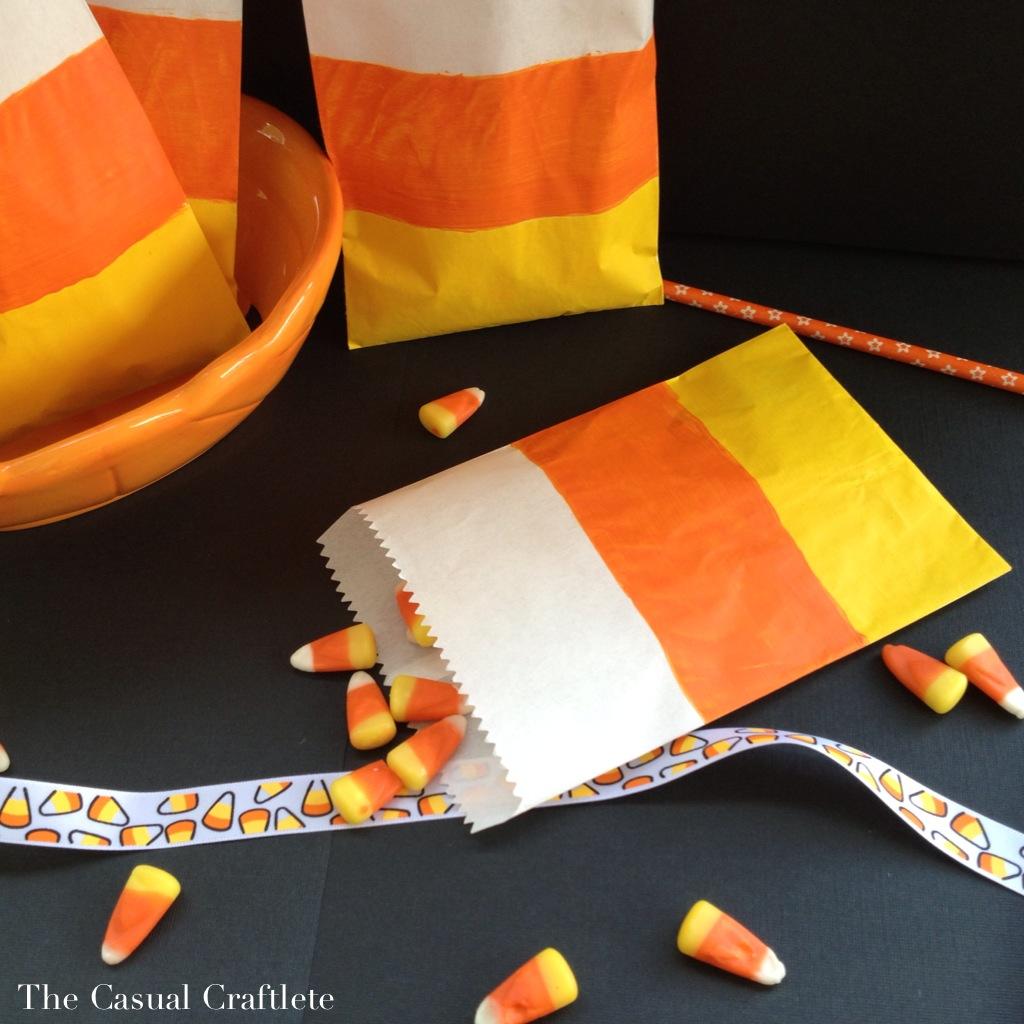 Candy Corn Halloween Favor Bag DIY