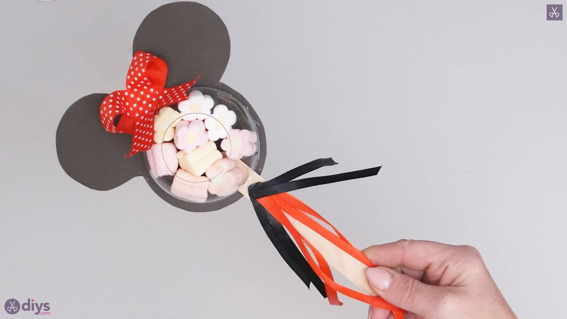 Minnie mouse candy holder diy halloween decorations
