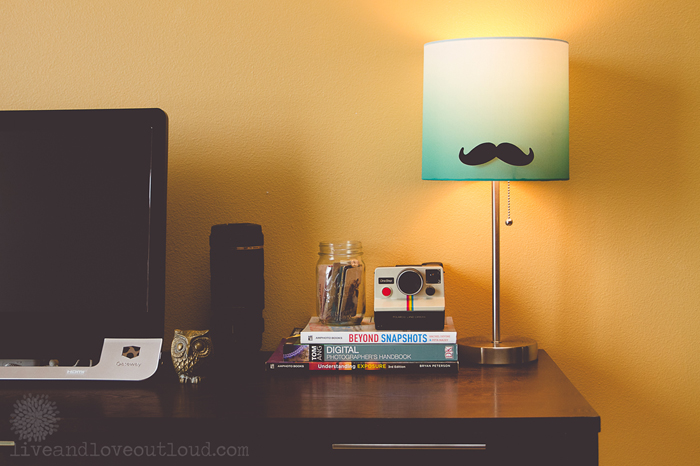 23 ways to diy and redo a lampshade mustache lampshade diy aloadofball Images