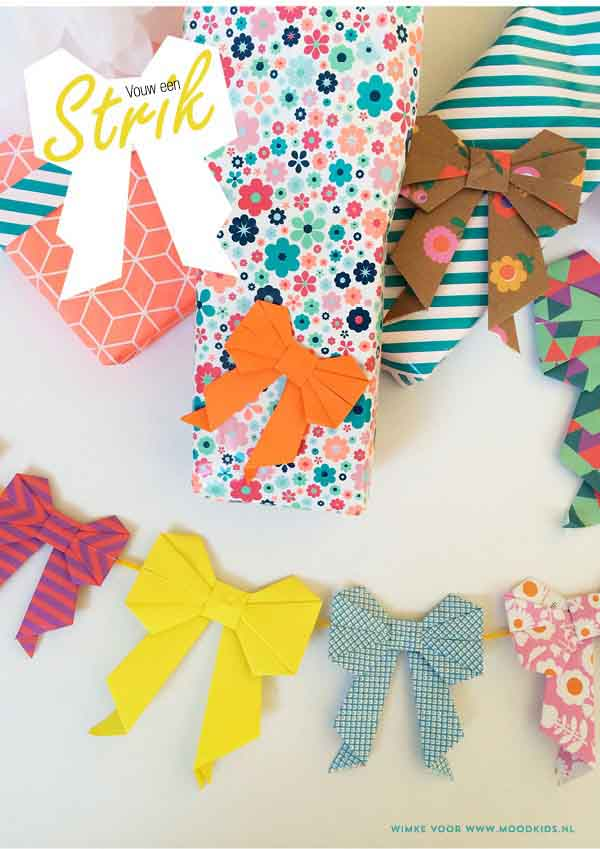 Orgami Bows DIY Wrapping