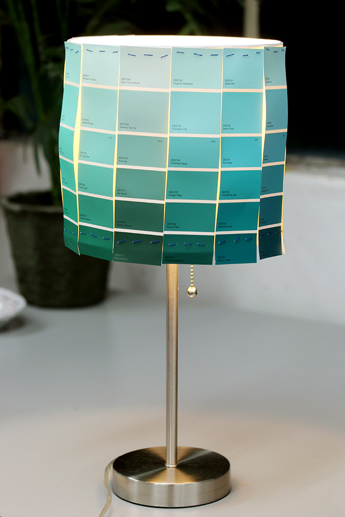 Paint Chip Lampshade Diy
