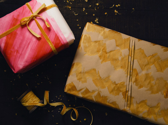Painted Gift Wrapping