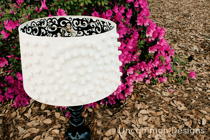 23 ways to diy and redo a lampshade pom pom lampshade diy aloadofball Images