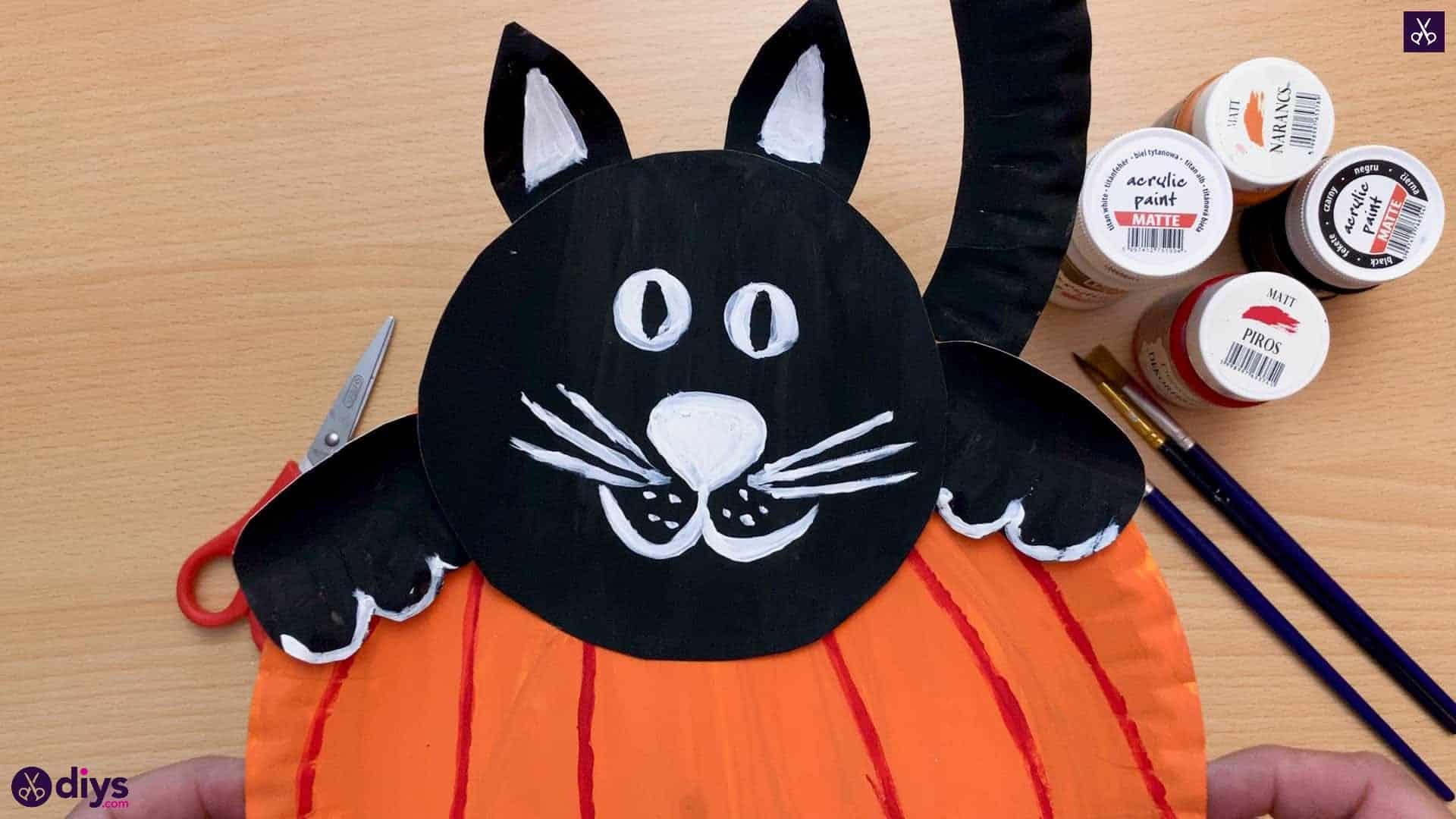 Pumpkin and cat halloween decor