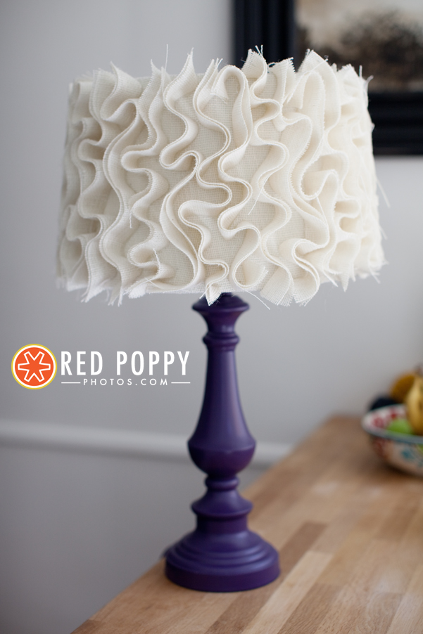 23 ways to diy and redo a lampshade ruffle diy lampshade aloadofball Image collections