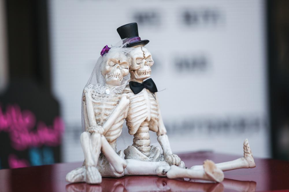 Skeleton newlyweds
