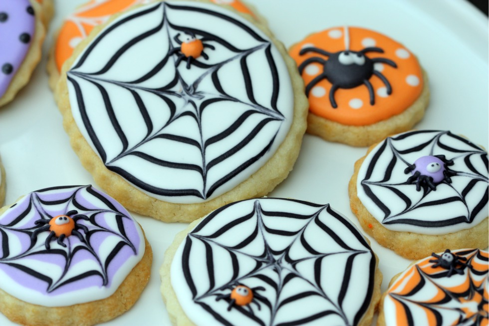 Spiderweb Halloween Cookies