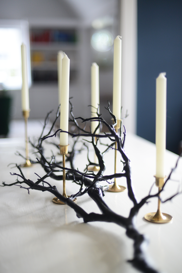 Black Branches Halloween Table Centerpiece