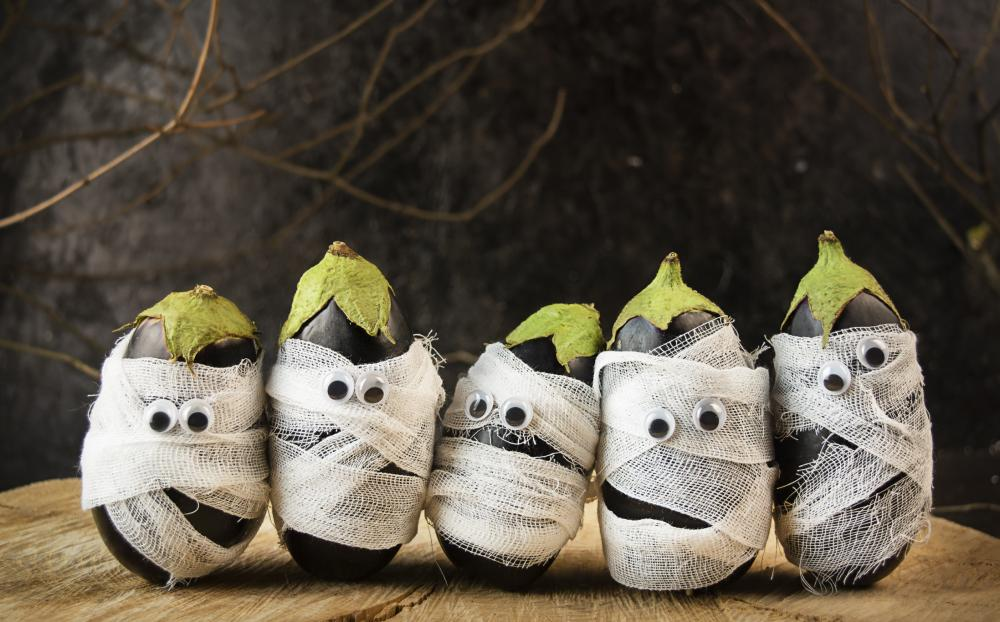 Spooky eggplants