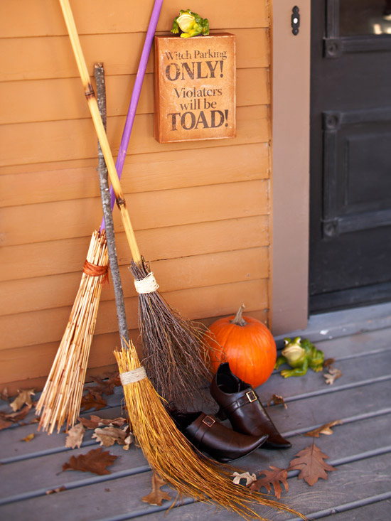 Witches Broom Halloween Decor