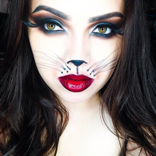 black cat makeup