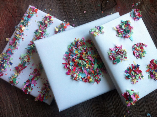 confetti gift wrapping