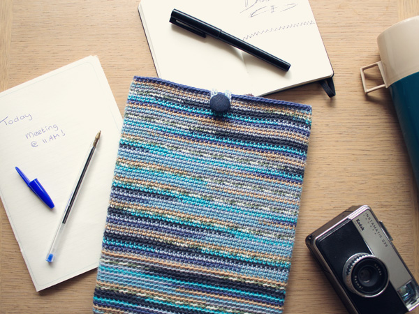 crochet striped case