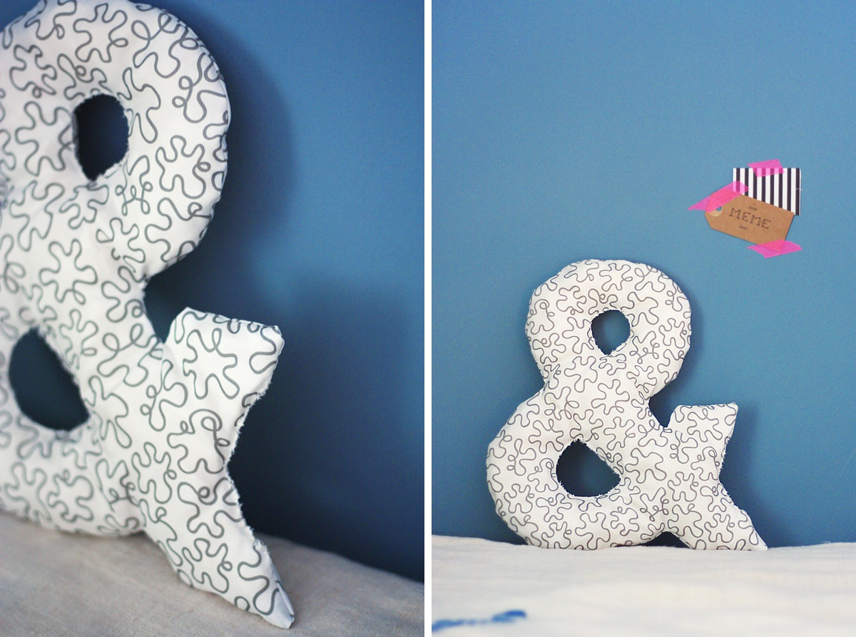diy ampersand pillow final