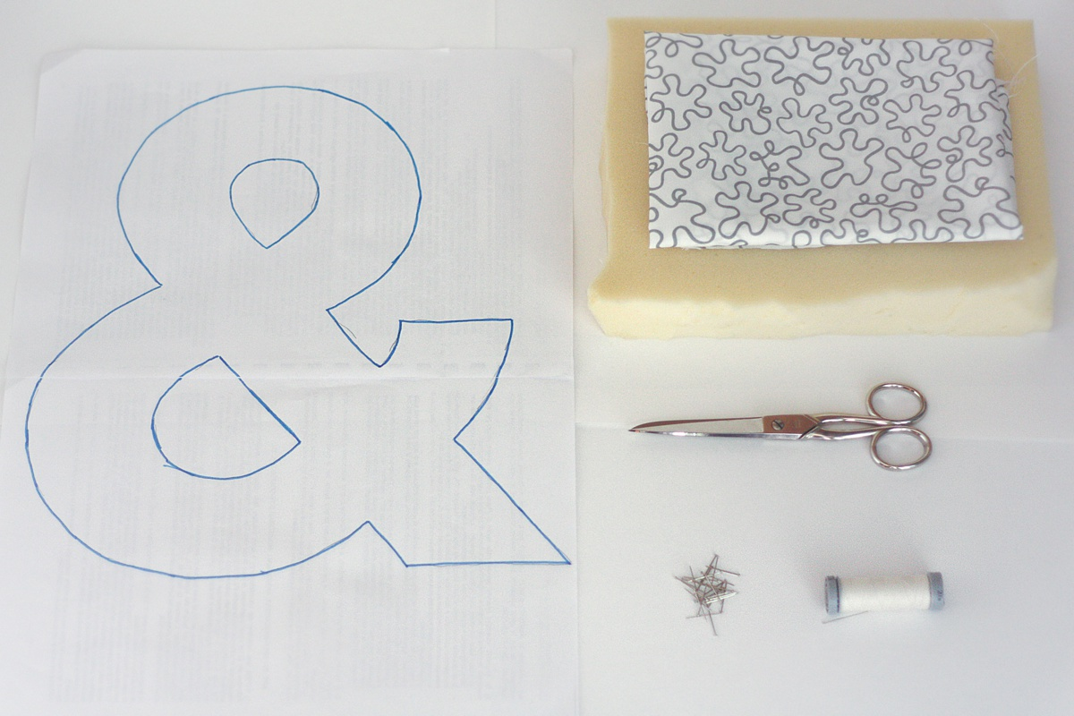 diy ampersand pillow material
