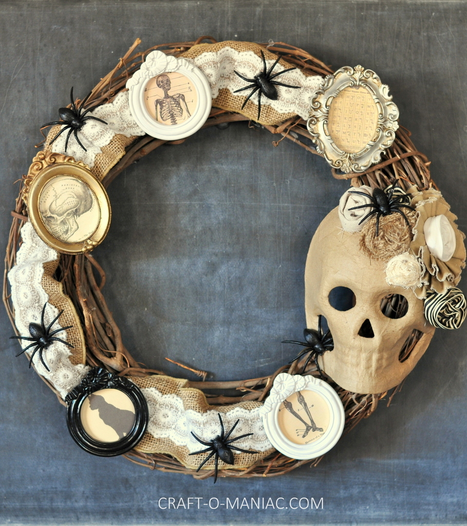 25 spooky and stylish pieces of halloween diy outdoor decor for How to make vintage frames