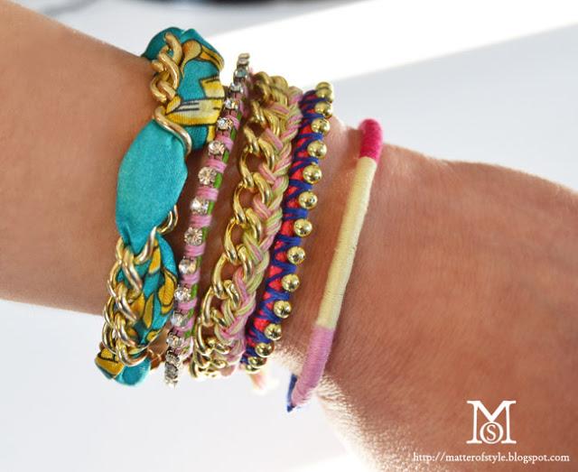 eclectic bracelet DIYs