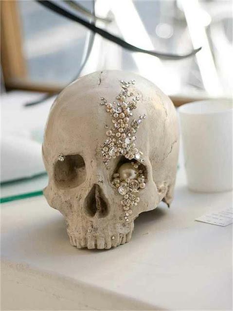 encrusted skull
