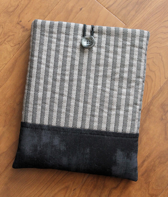fabric button ipad case