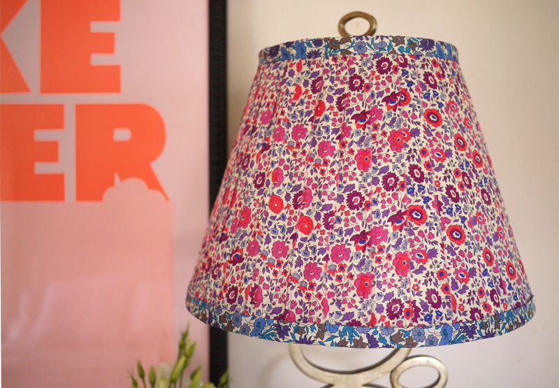 23 ways to diy and redo a lampshade floral fabric lampshade diy aloadofball Image collections