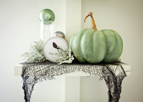 green pumpkin decor