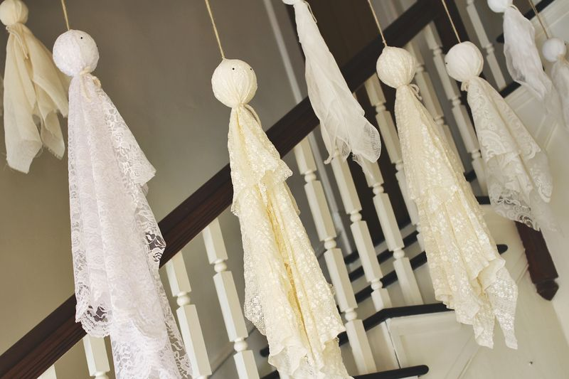 14 lacey ghosts - How To Make Easy Halloween Decorations
