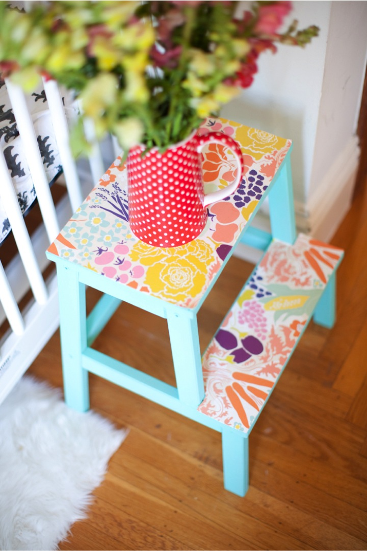 wallpaper stool tables