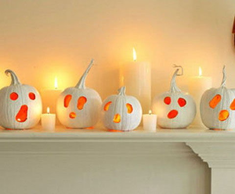 white orange jack o lanterns