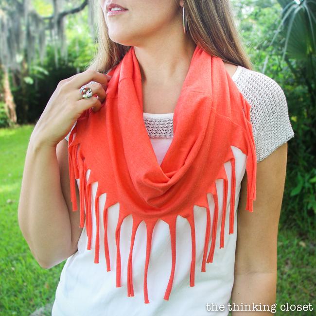 10 minute fringe scarf