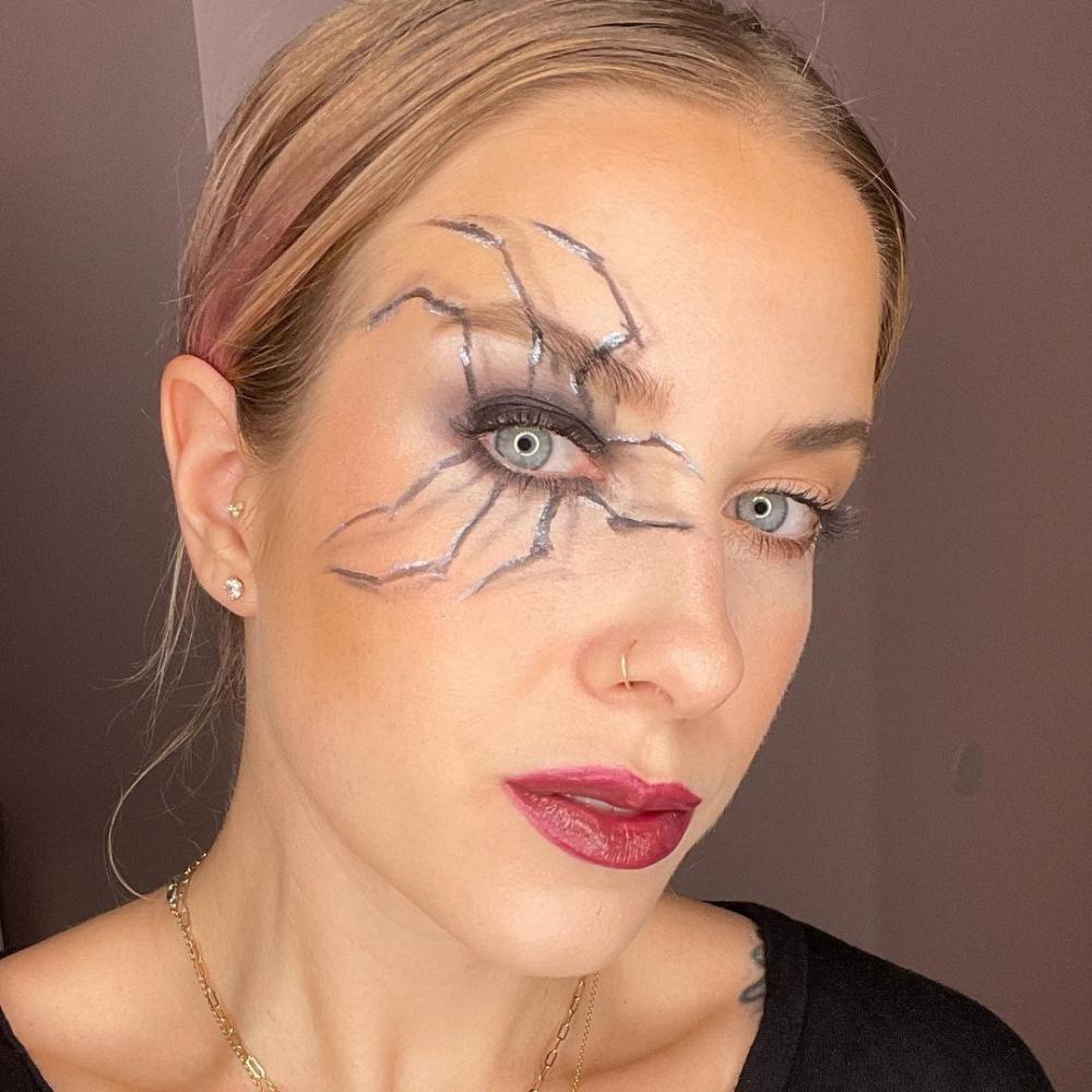 3d spider cute halloween makeup