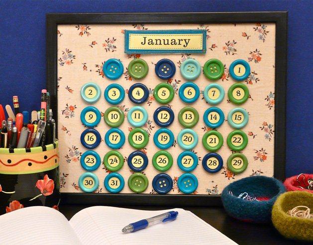 BUtton Calendar diy