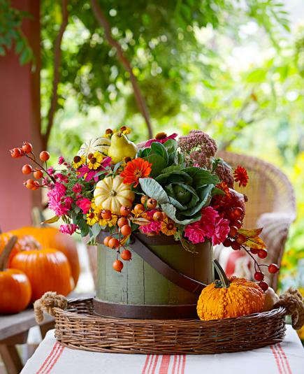 Basket Full Thanksgiving DIY Centerpiece