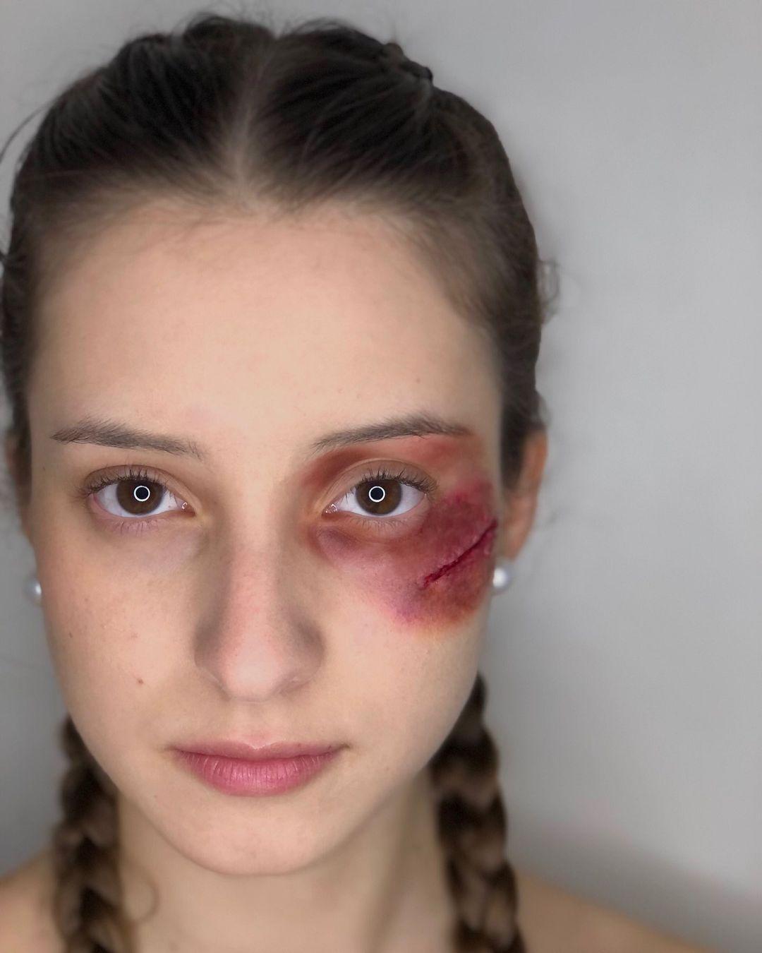 Black eye halloween makeup