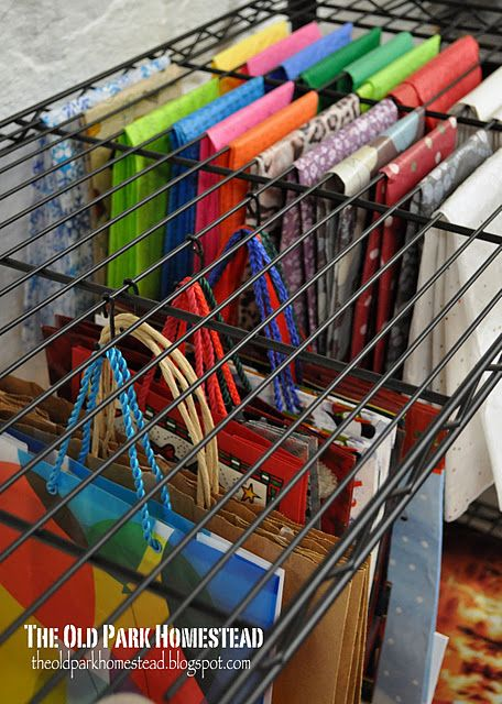 Black Wire Gift Bags Organization