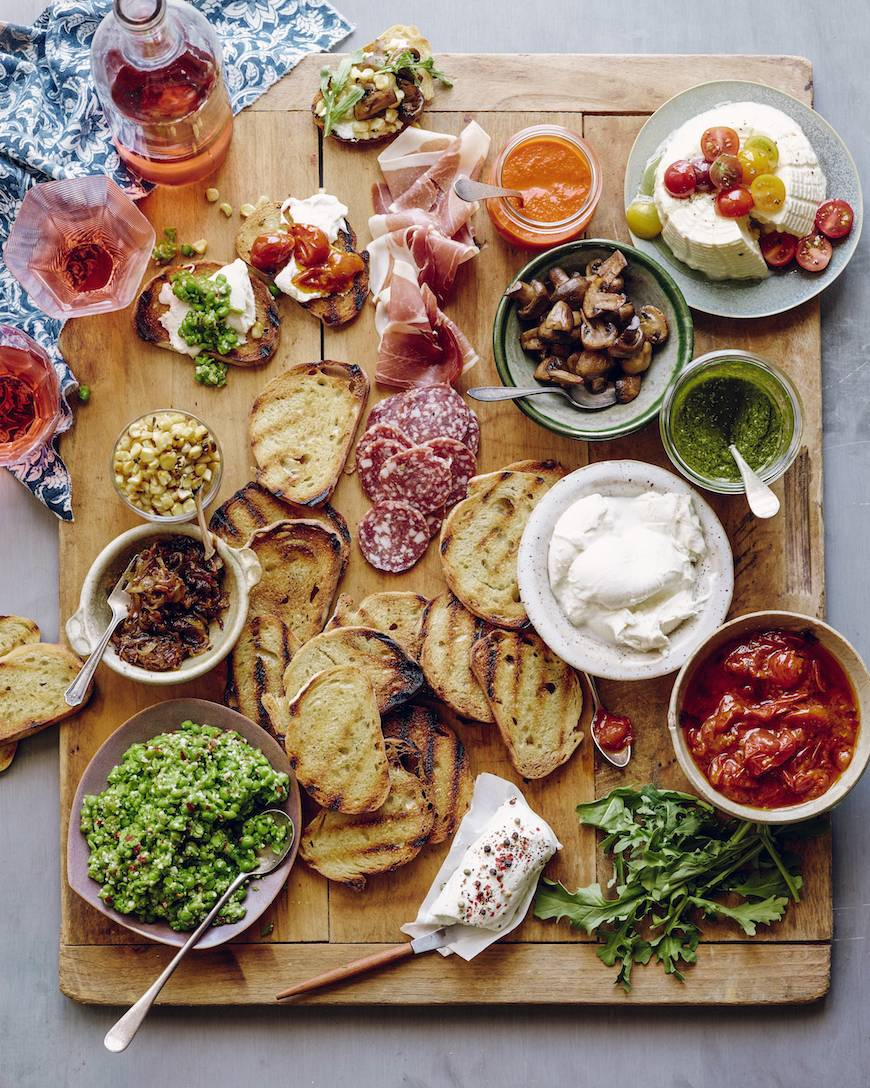 Charming Cheap Dinner Party Ideas Part - 11: Bruschetta Bar