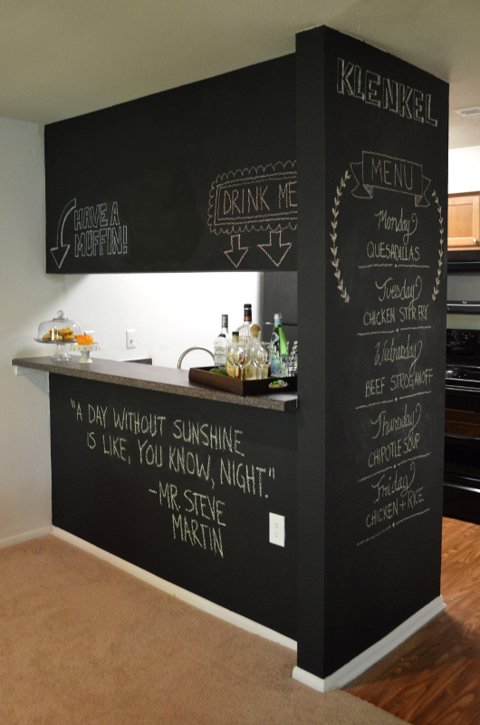 Chalkboard Accent Wall DIY