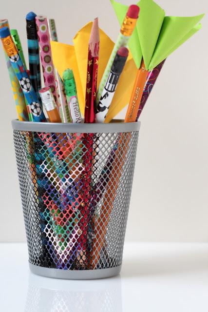 Chevron Pencil Holder DIY
