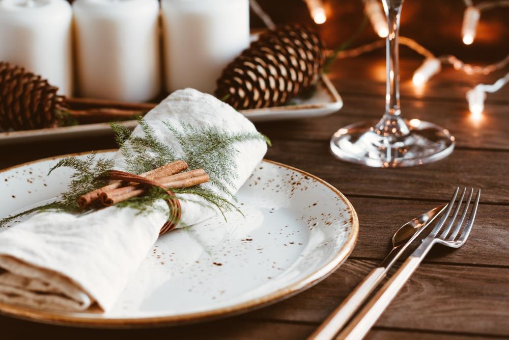 Cinnamon stick napkin holder thanksgiving home decor