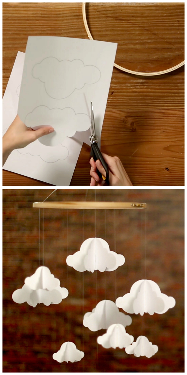 Cloud Baby Mobile DIY