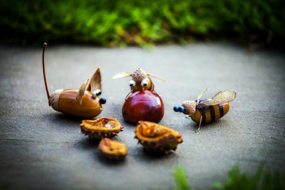 Diy acorn decorations thanksgiving ornaments