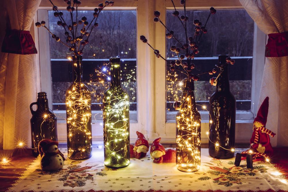 Diy bottle lights thanksgiving aesthetic