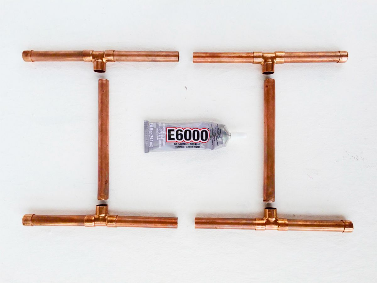 DIY Copper pipe multi-purpose stand - Half Glue