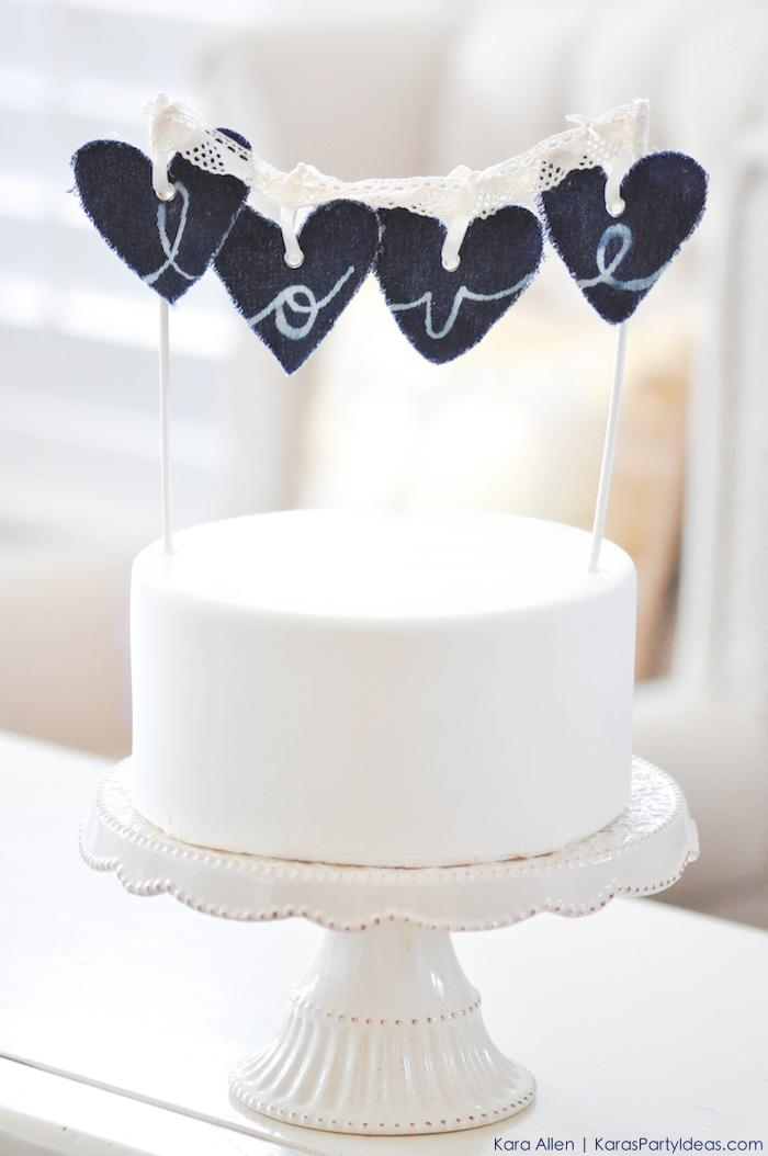 DIY-Denim-Jean-love-heart-wedding-cake-topper-via-Karas-Party-Ideas-Kara-Allen-KarasPartyIdeas.com-MichaelsMakers-MadeWithMichaels_-4