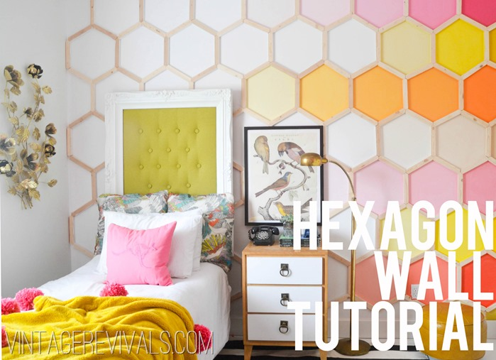 DIY Hexagon Accent Wall