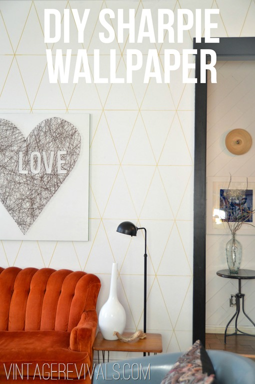 DIY Sharpie Wallpaper Tutorial
