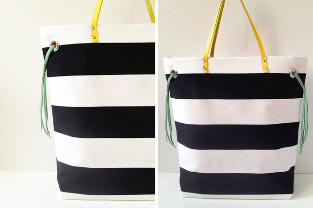 DIY Stripes Tote